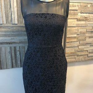 Diane Von Furstenberg Black Lace Dress Size 4